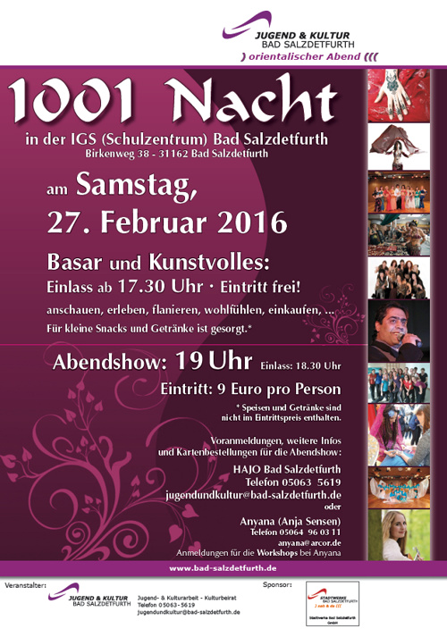 Plakat 1001 Nacht 2016 Bad Salzdetfurth